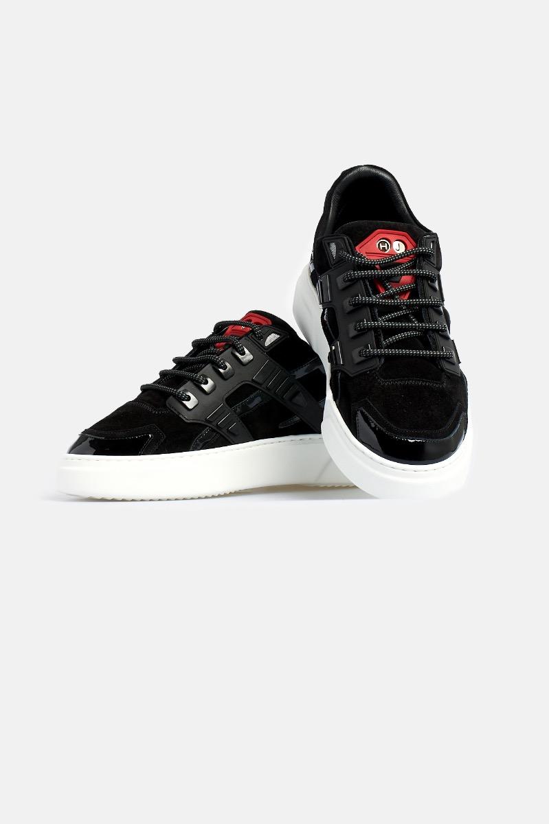 Sneaker mini silver stone - Nero/rosso