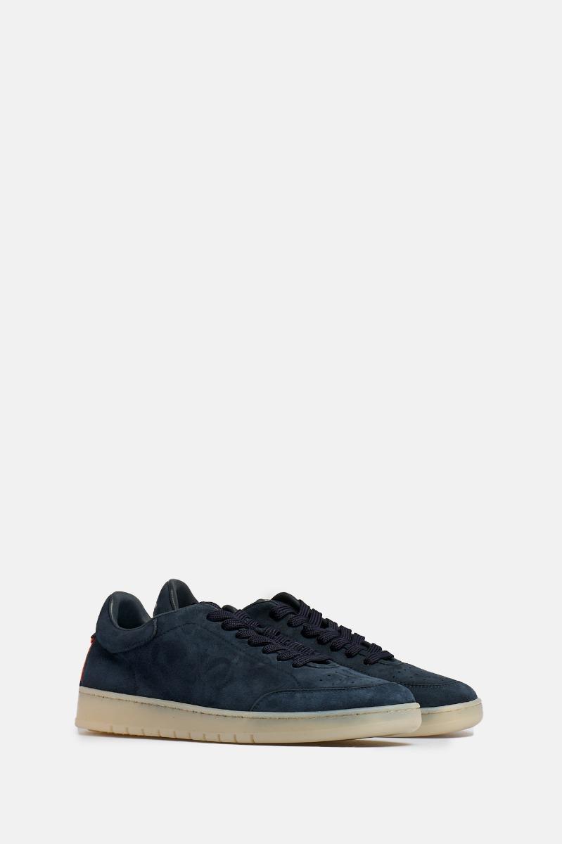 Sneaker camoscione vintage -Blu