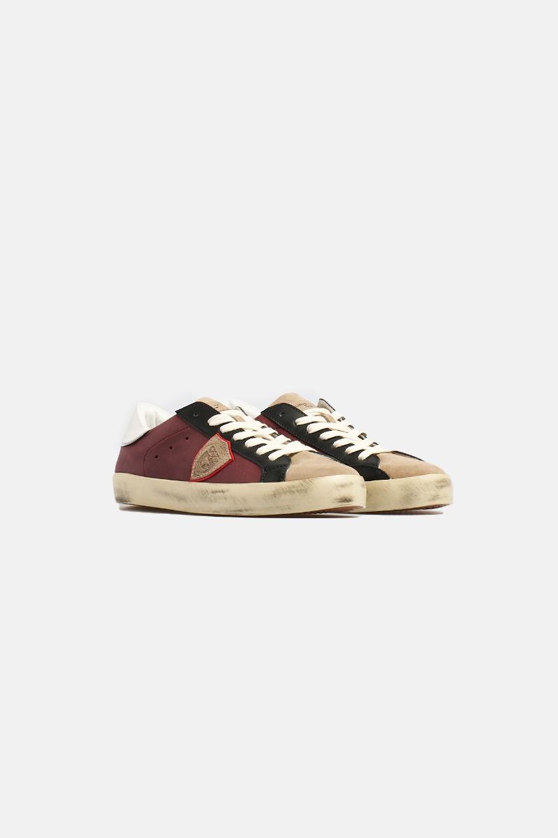 Sneakers -Bordeaux-Nero