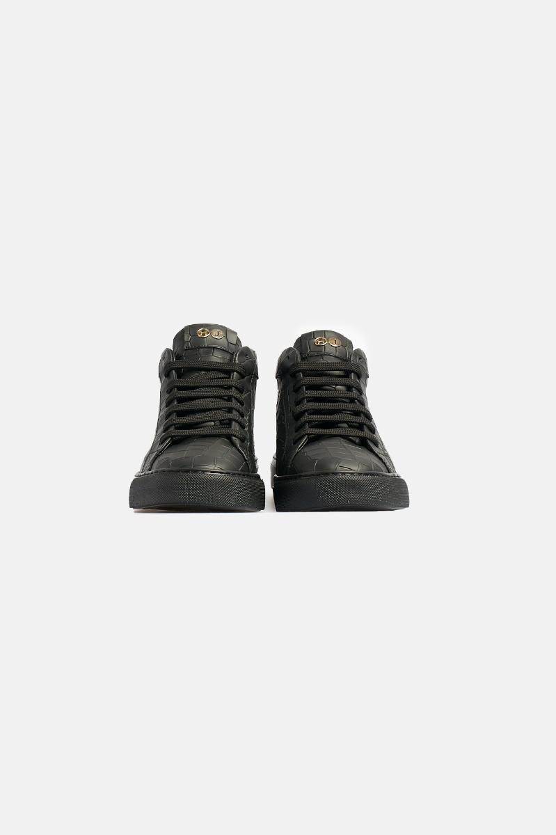 Sneaker essence printed croco -Nero