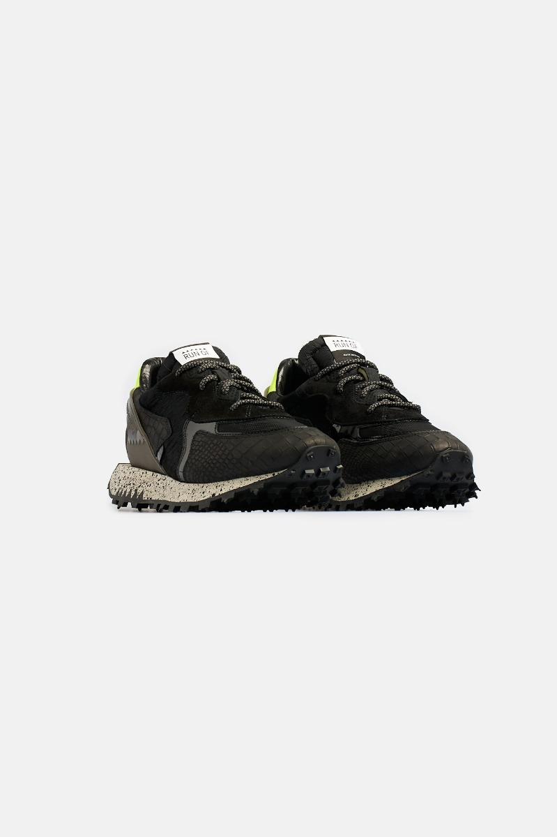 Sneaker inserto cavallino  -Nero
