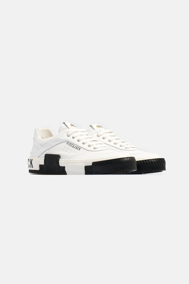 Sneaker calf leather Bianco-Nero