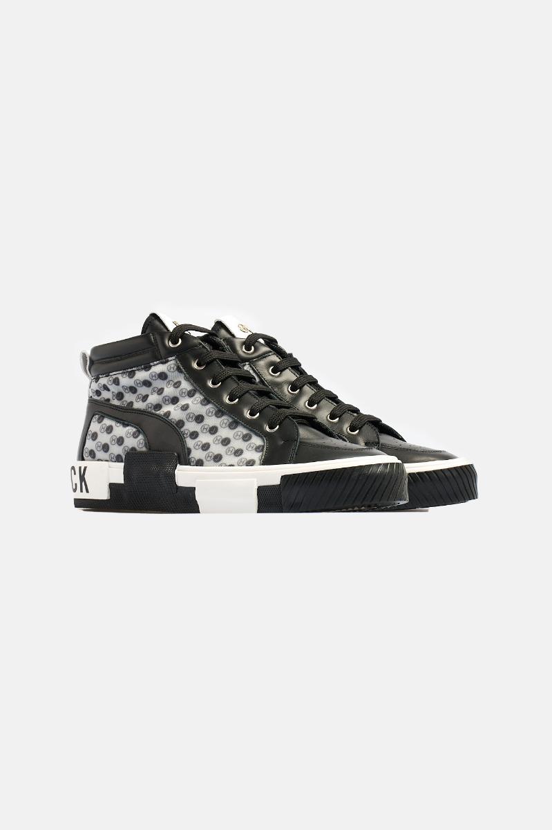 Sneaker calf leather -Nero