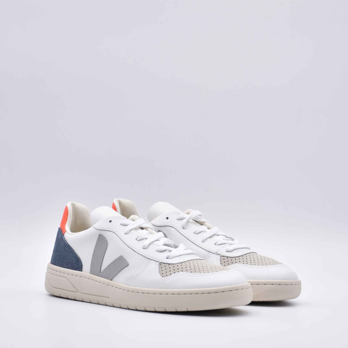 Sneakers v-10 - Bianco/grigio