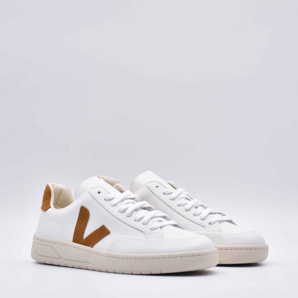 Sneakers v-12 - Bianco/ Cammello