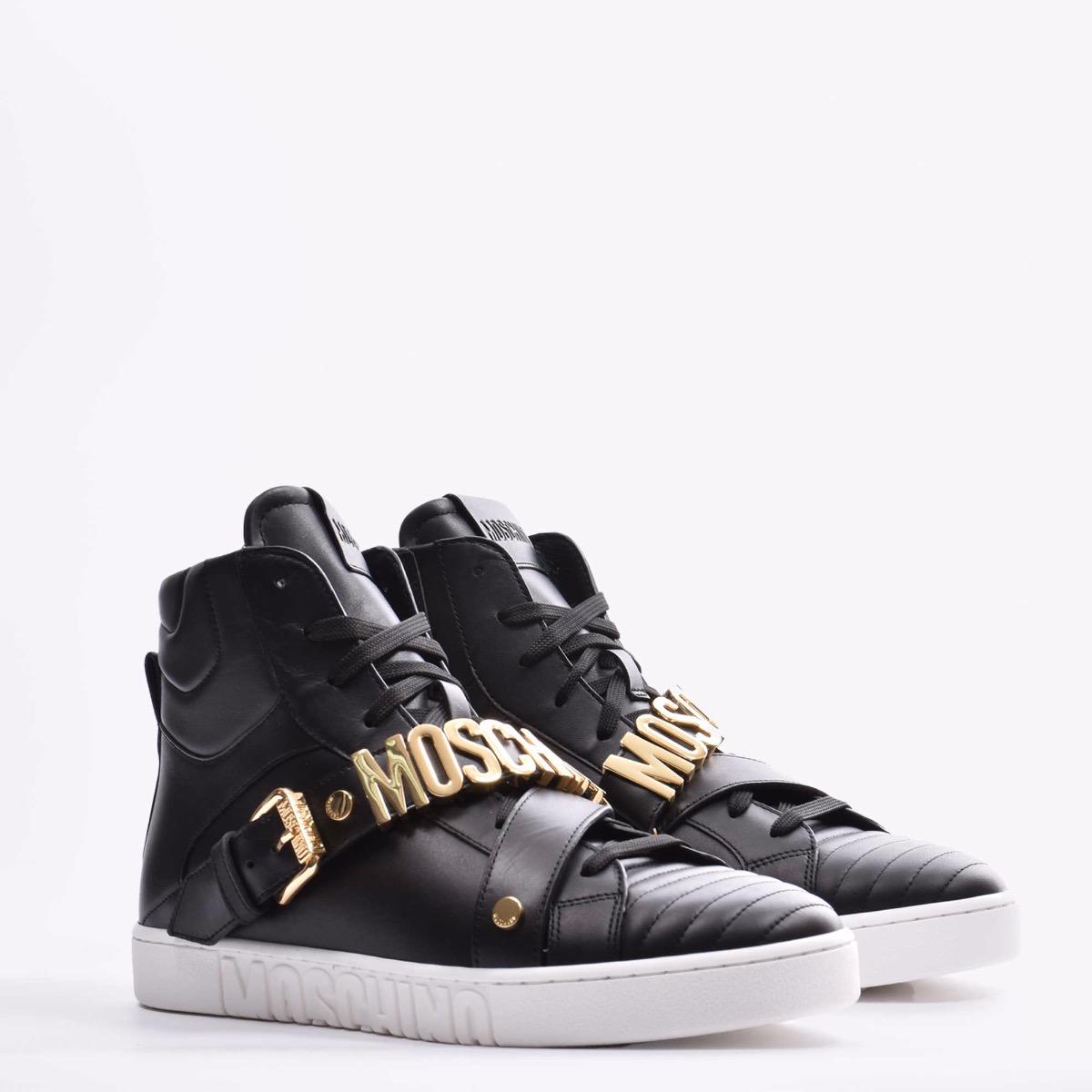 High sneaker vitello - Nero