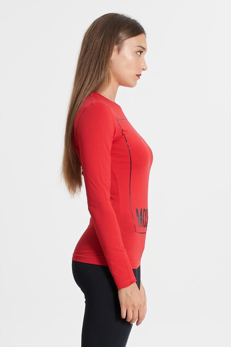 T-shirt maxi logo- Rosso