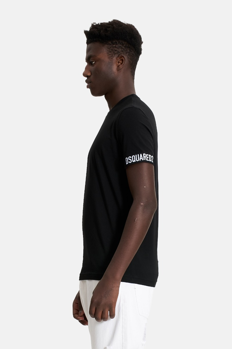 T-shirt logo manica -Nero