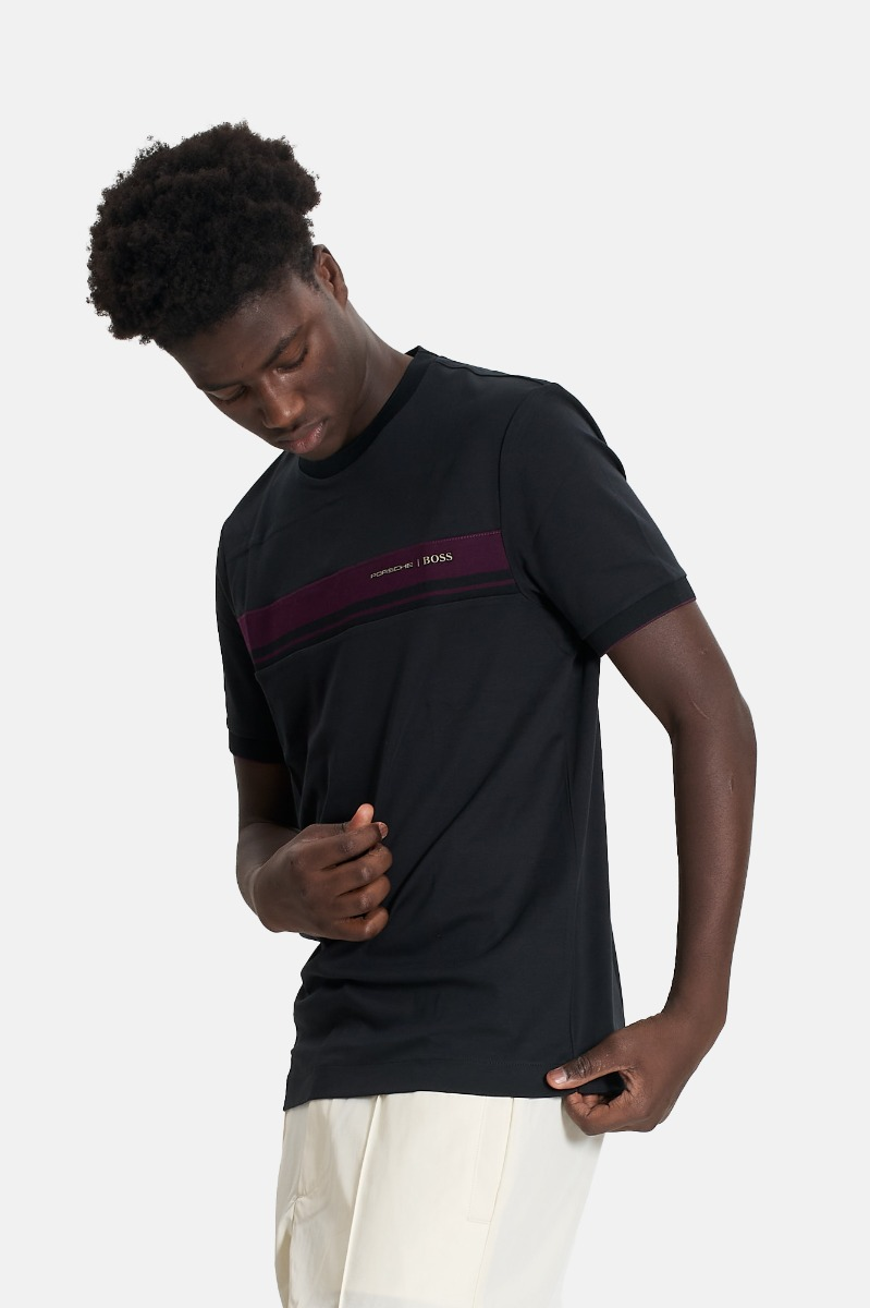 T-shirt tiburt 290 logo porsche -Nero