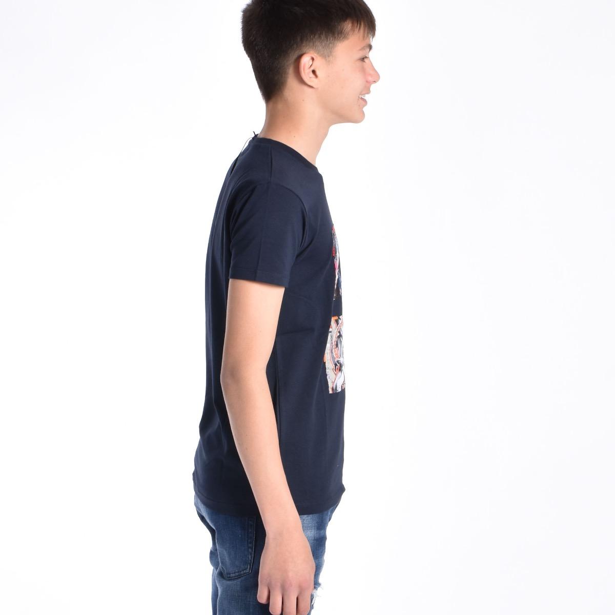 T-shirt con stampe - Blu