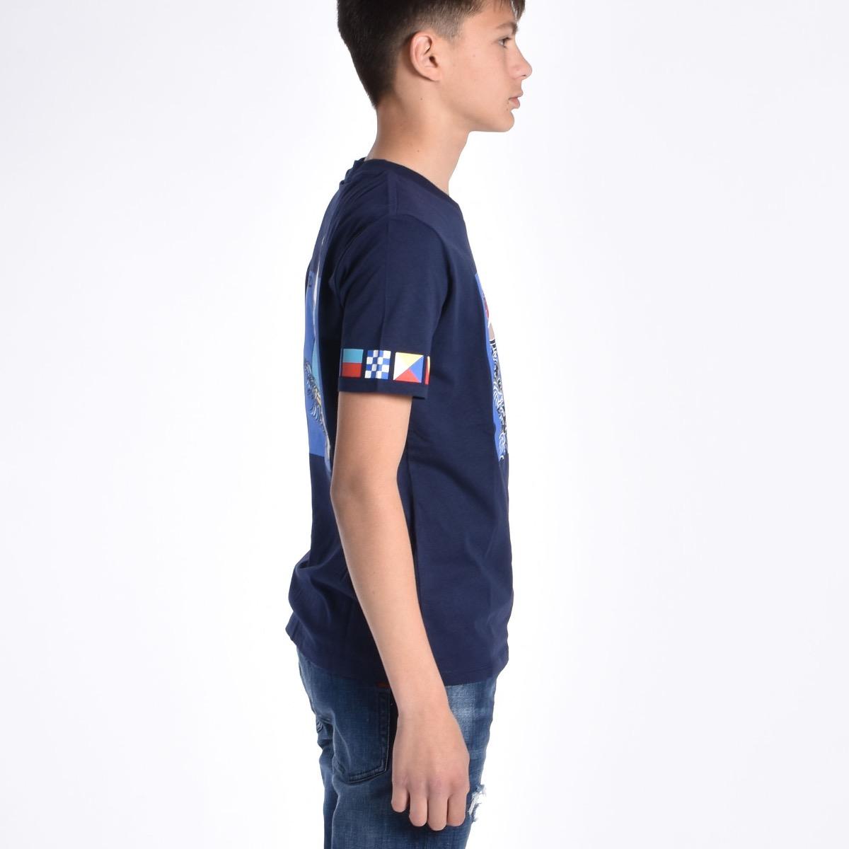 T-shirt con barca - Blu
