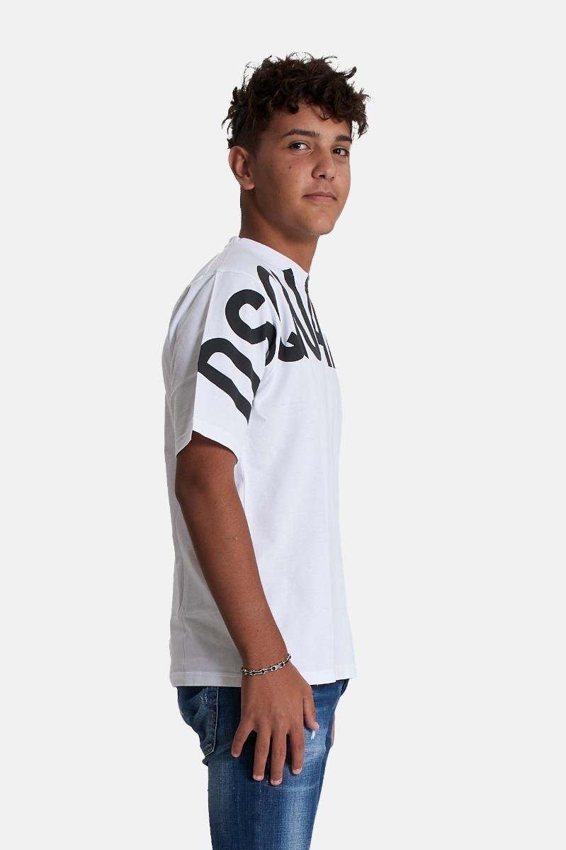 T-shirt maxi logo -Bianco