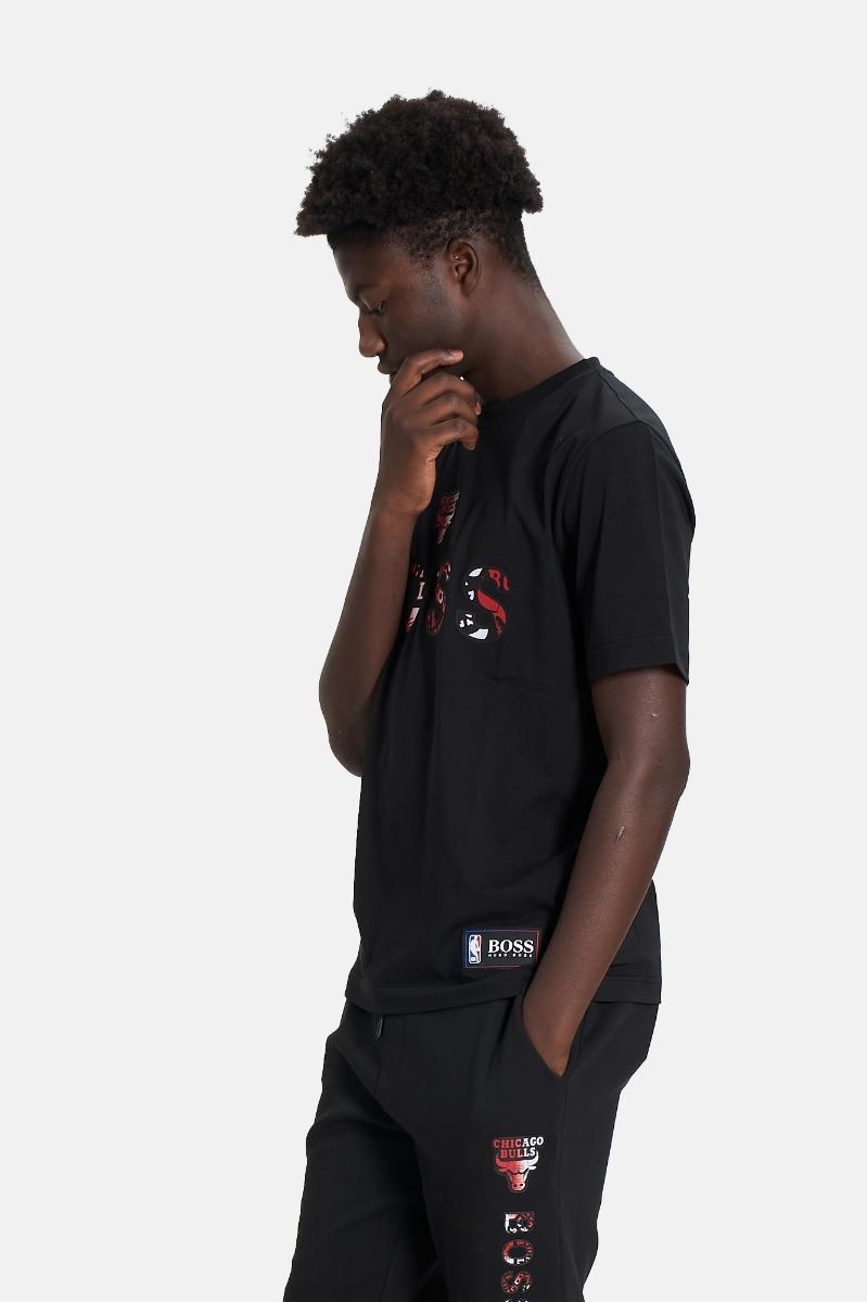 T-shirt basket CHicago Bulls- Nero