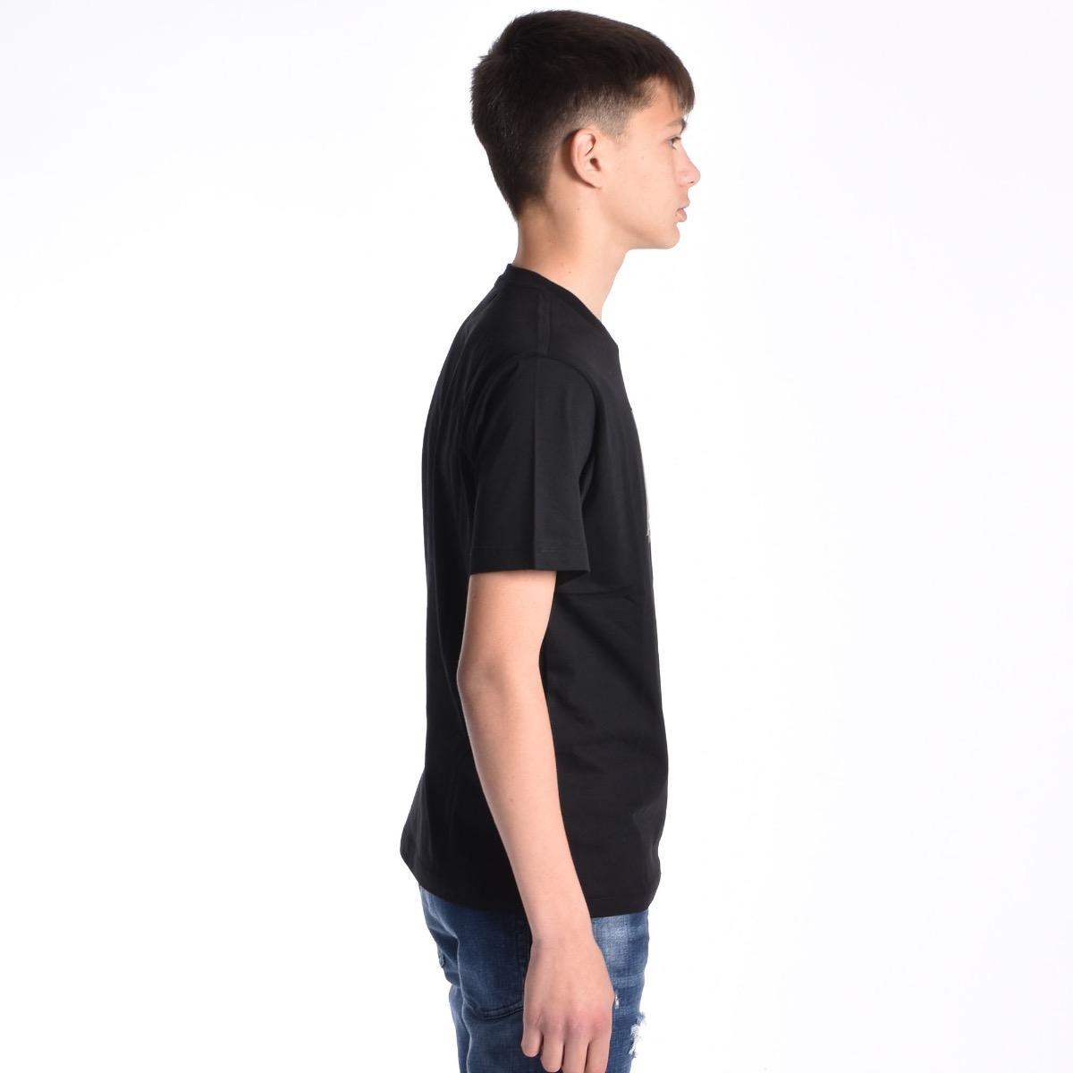 T-shirt con code - Nera