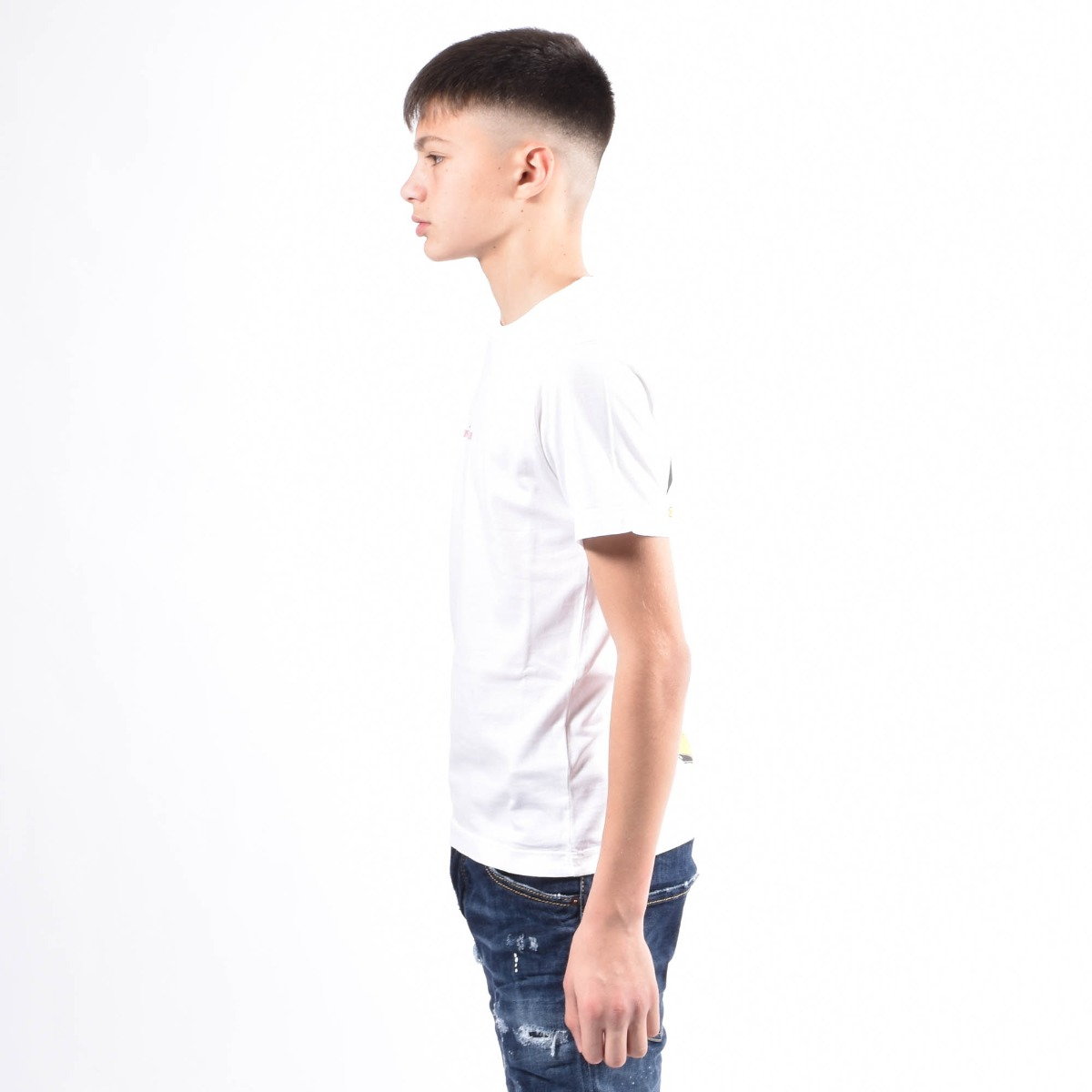 T-shirt con stampa- Bianco