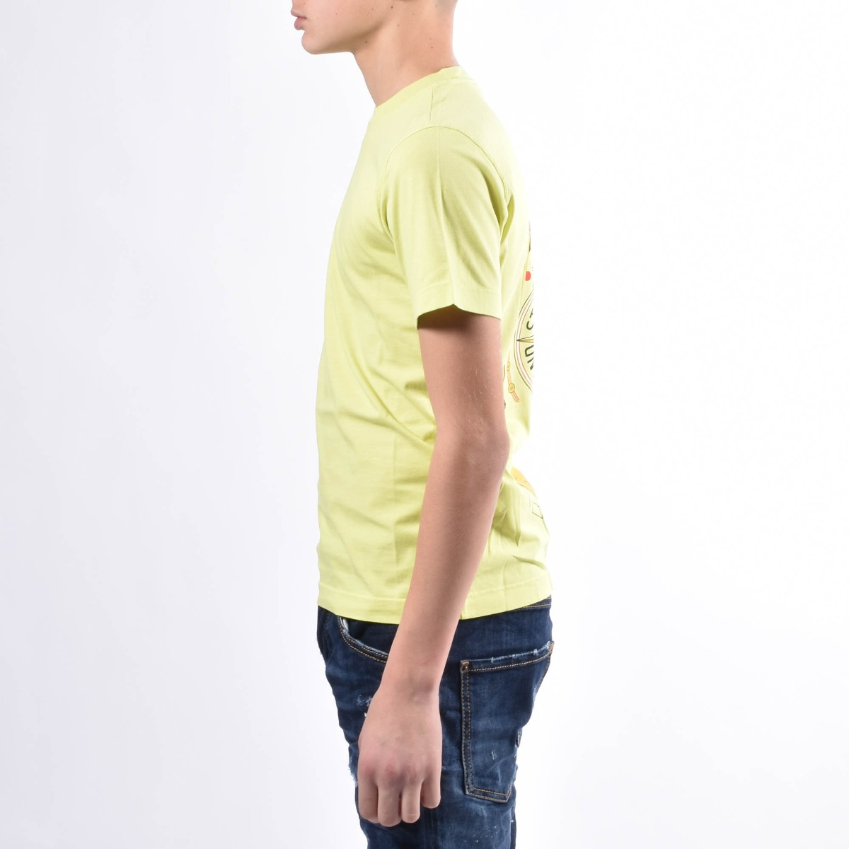 T-shirt con stampa- Lime