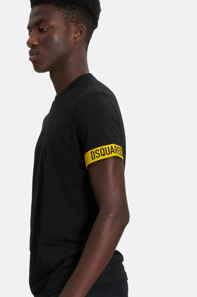 T-shirt fascia manica dsquared2- Nero
