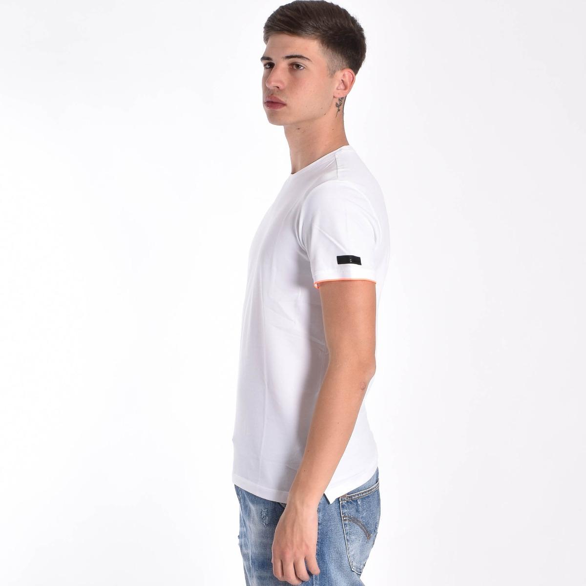 T-shirt inserti fluo- Bianco