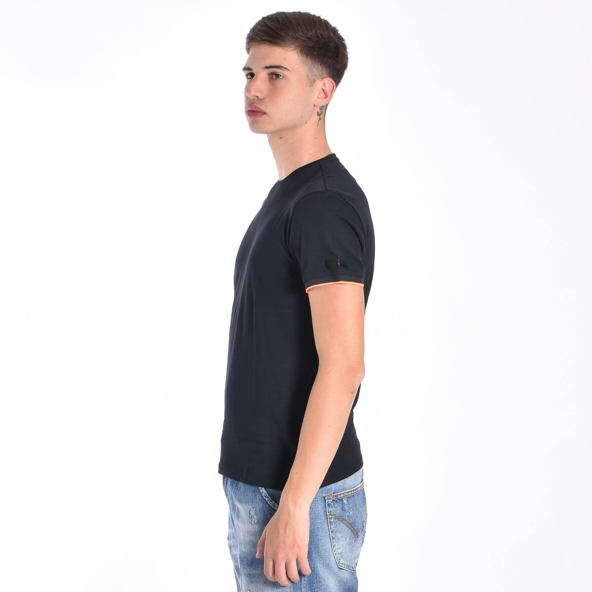 T-shirt inserto fluo- Blu scuro