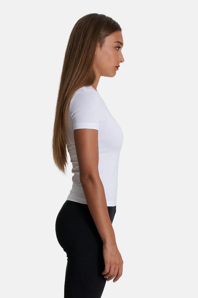 T-shirt ricamo logo- Bianco