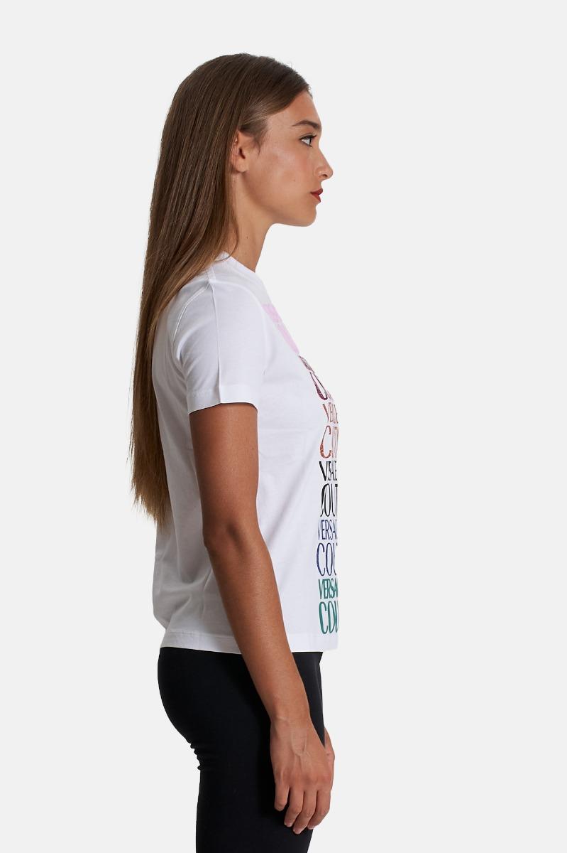 T-shirt logo multicolor - Bianco