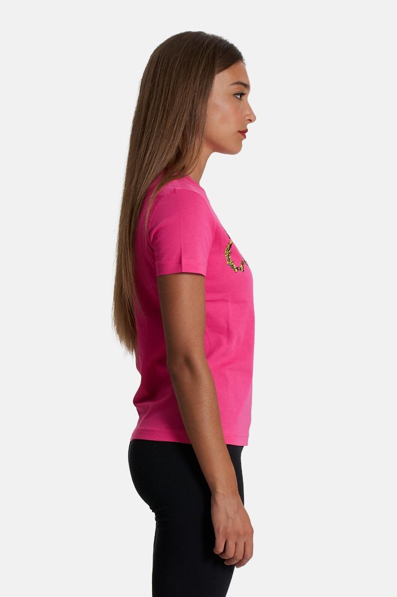 T-shirt logo bijoux - Fuxia