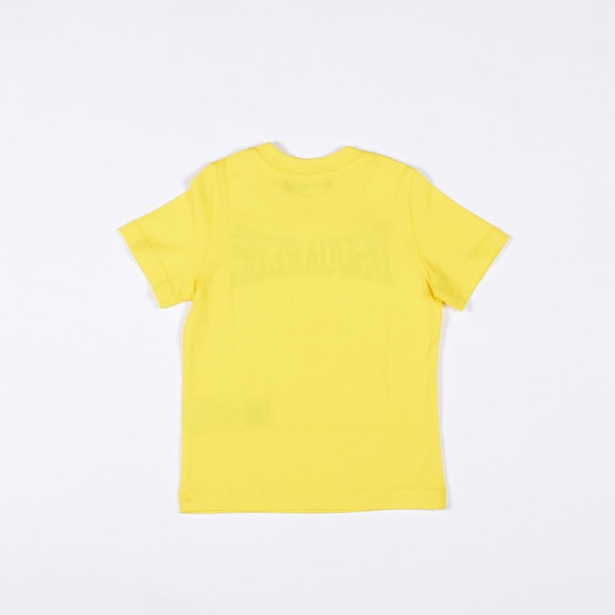 T-shirt scritta logo- Giallo