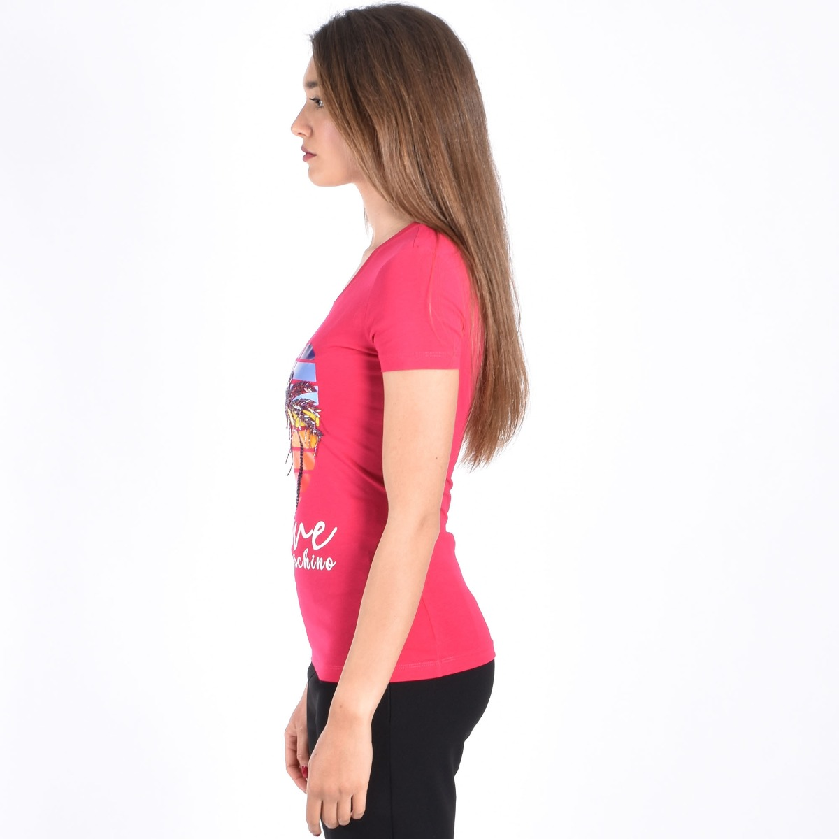 T-shirt malibù- Fucsia