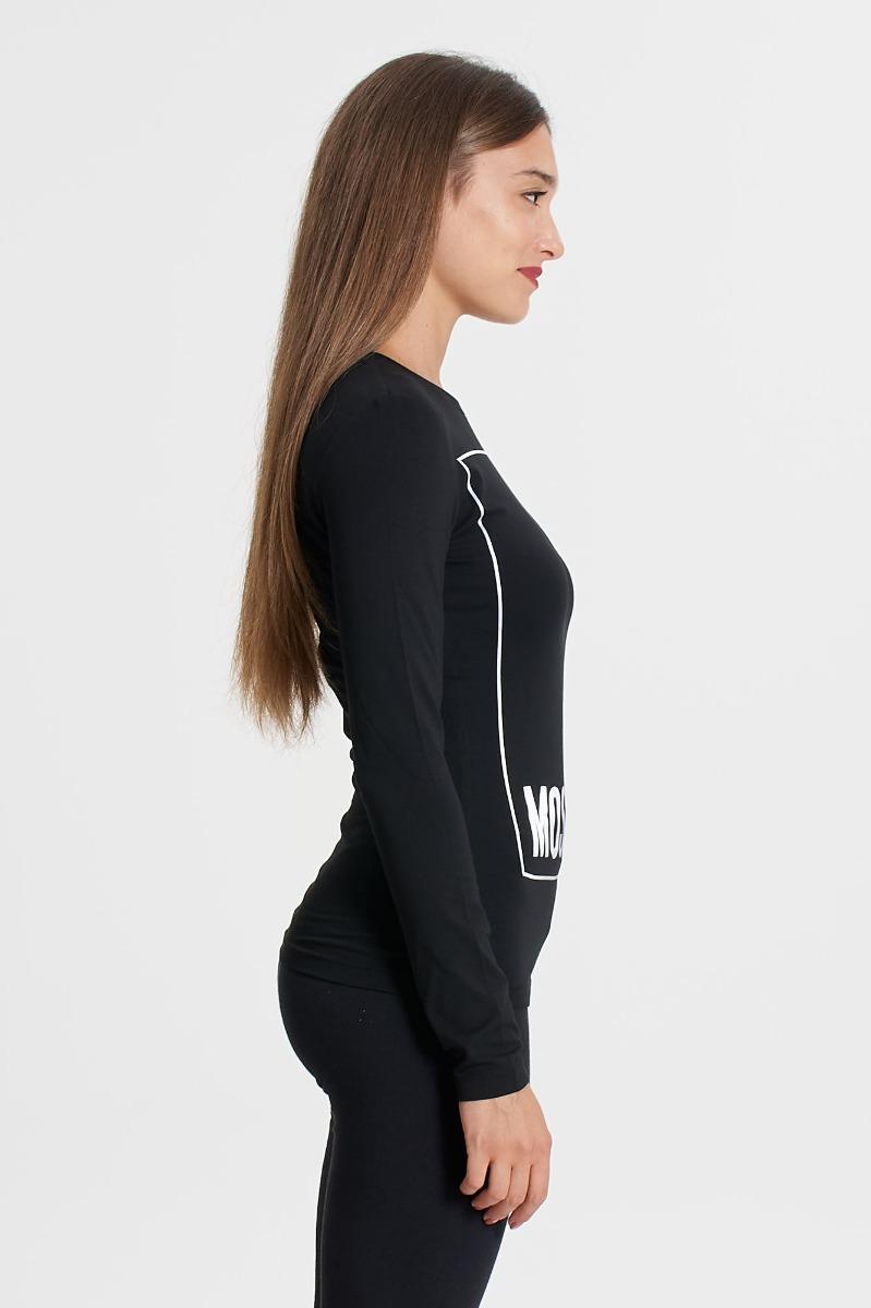T-shirt maxi logo- Nero