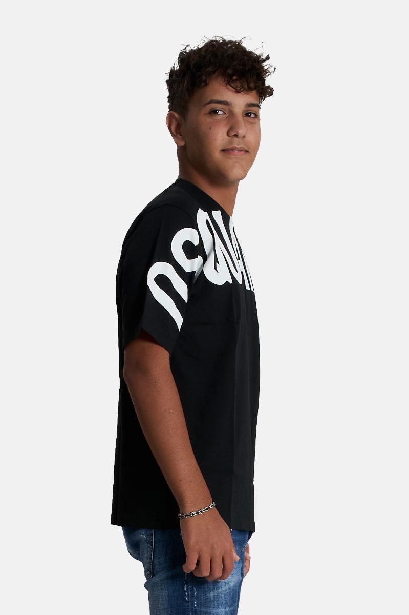 T-shirt maxi logo -Nero