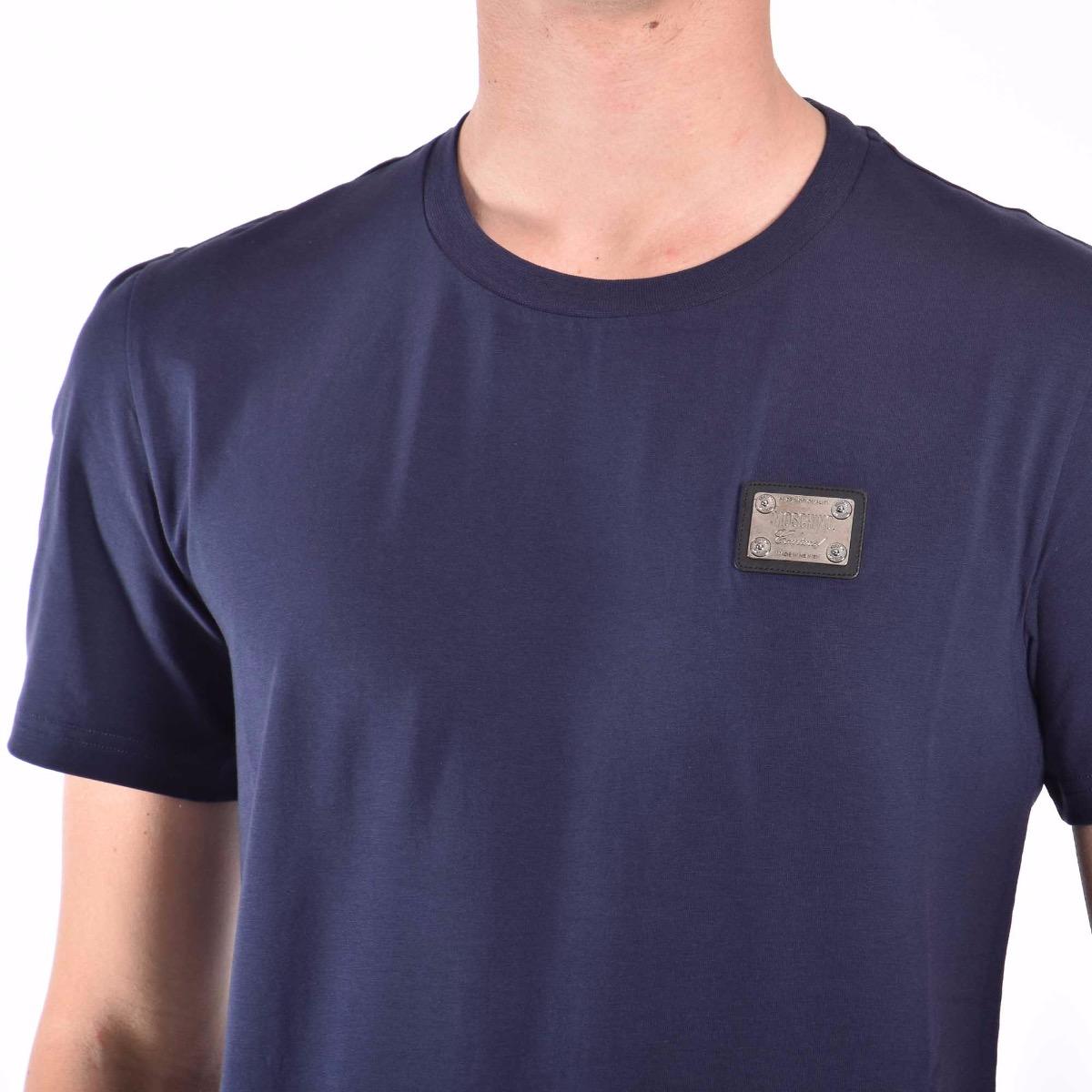 T-shirt placchetta metallo - Blu