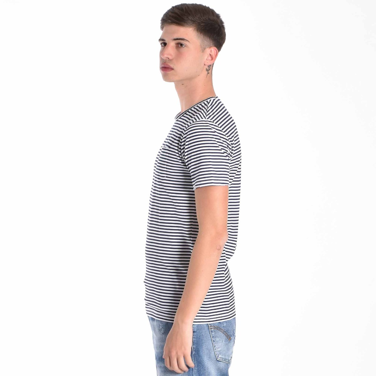 T-shirt win riga- Bianco/ Blu