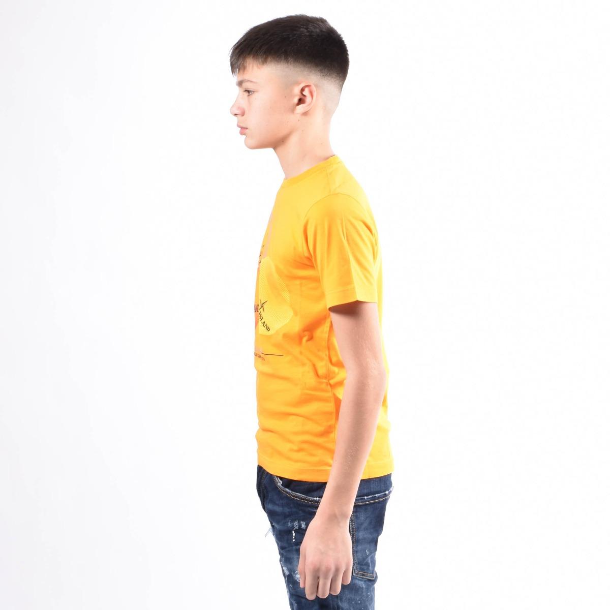 T-shirt stampa- Arancio