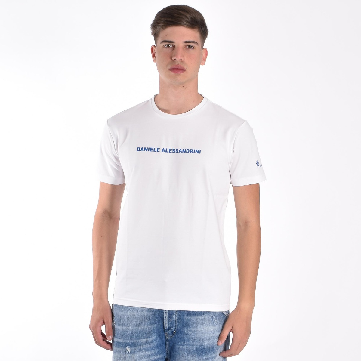 T-shirt logo e star- Bianco