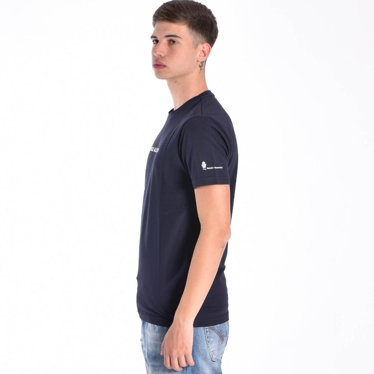 T-shirt star e logo- Blu