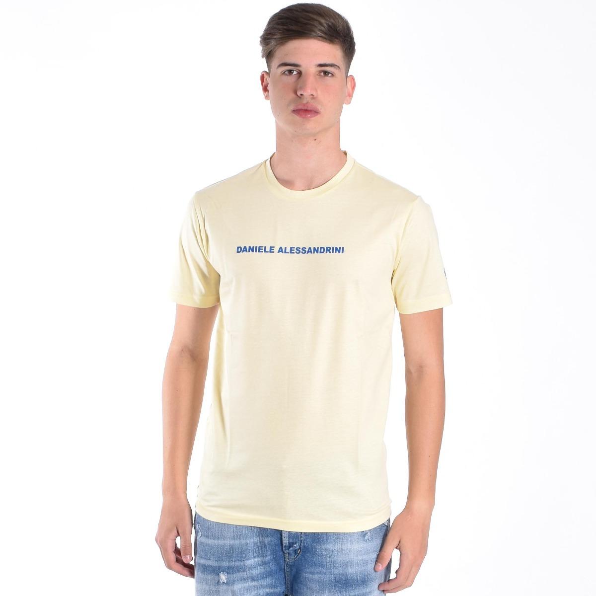 T-shirt star e logo- Giallo