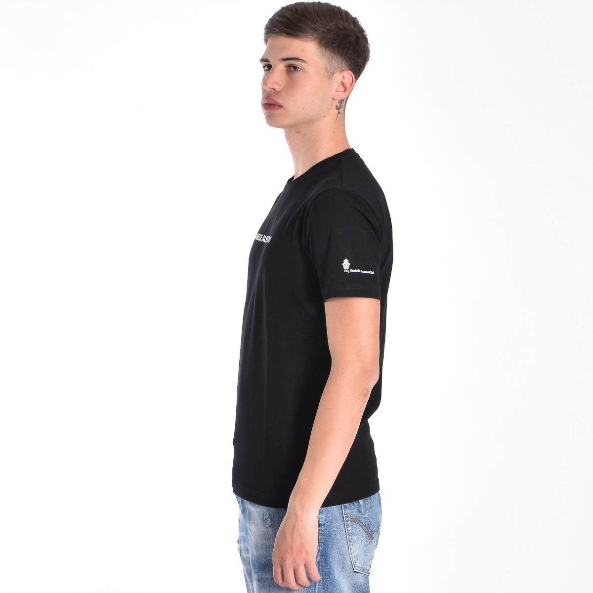T-shirt logo e star- Nero