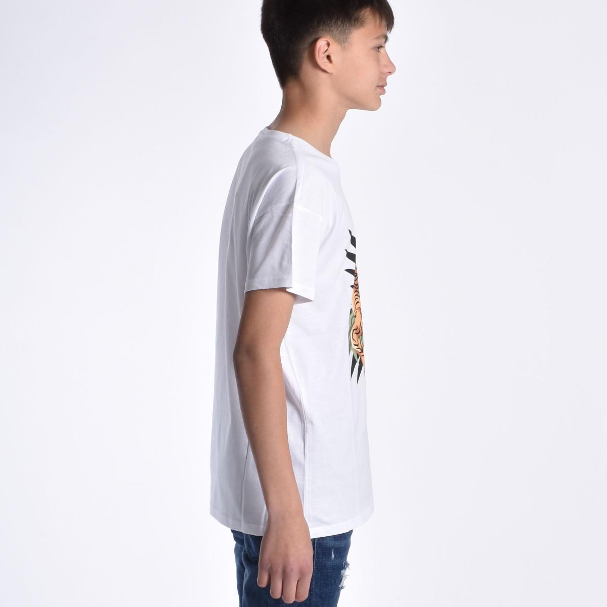 T-shirt con tigre - Bianca