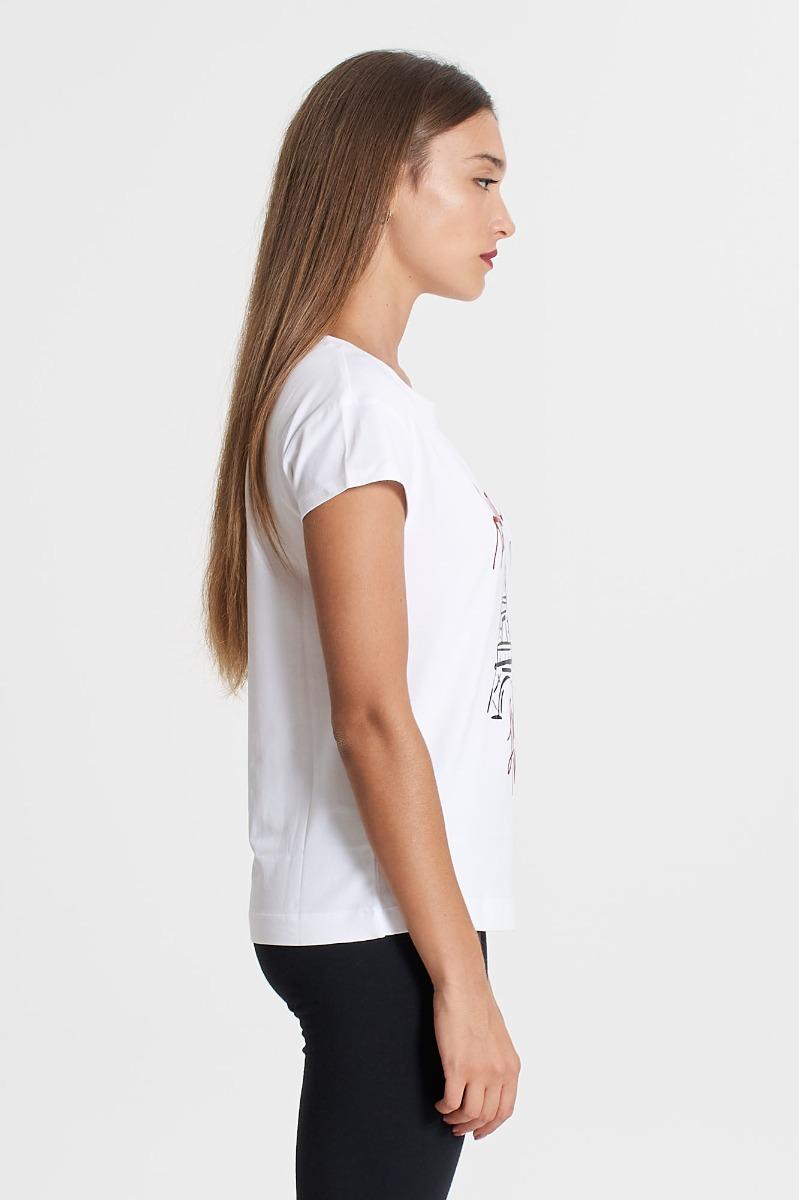 T-shirt tour love- Bianco