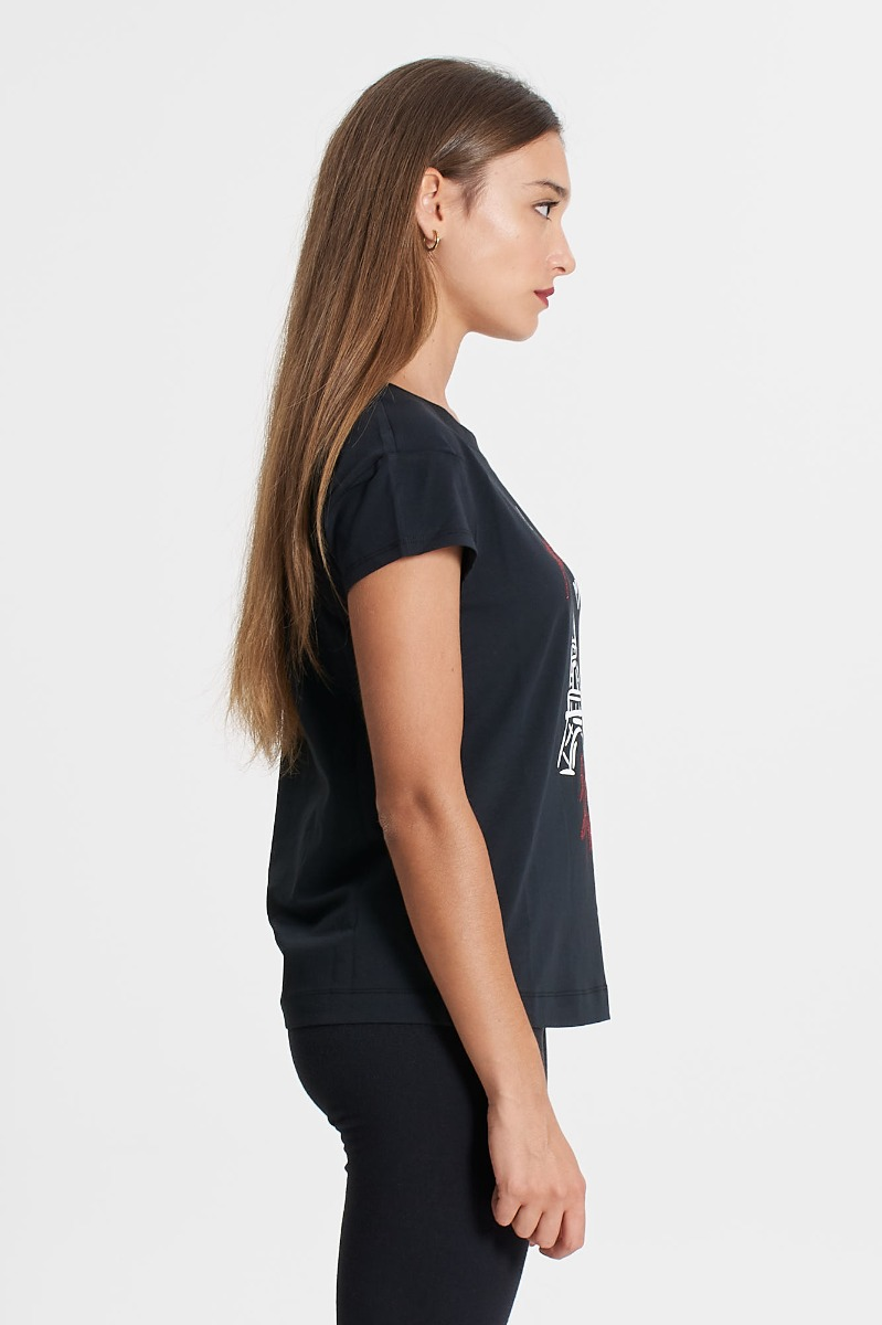 T-shirt tour love- Nero