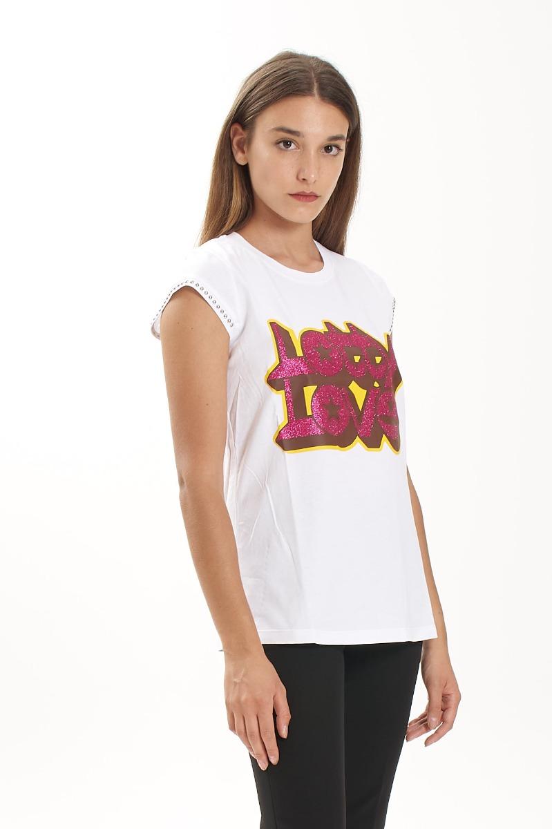 T-shirt lotty- Bianco