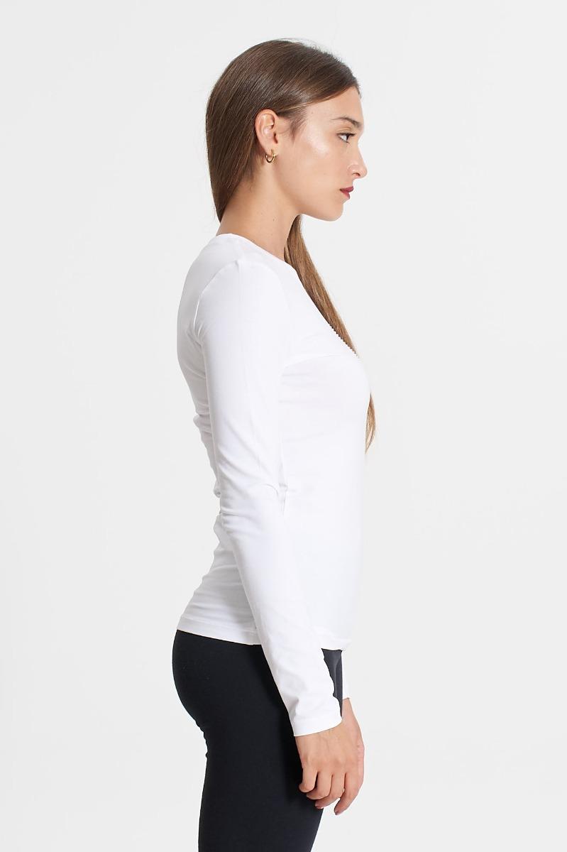 T-shirt cuore strass- Bianco