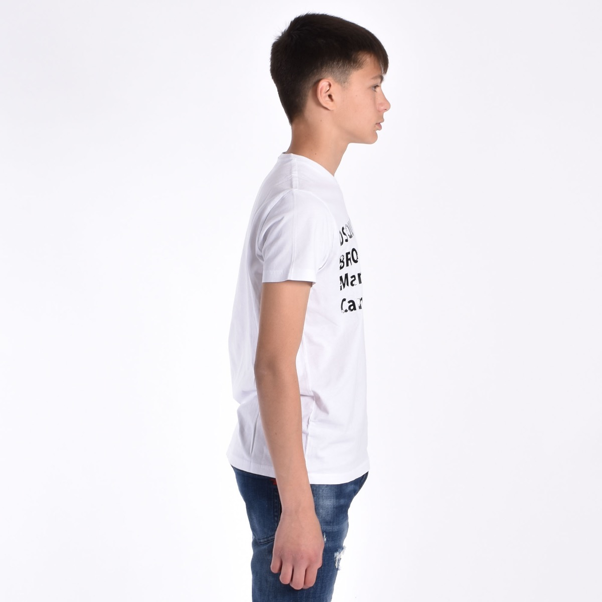 T-shirt logo gommato- Bianco