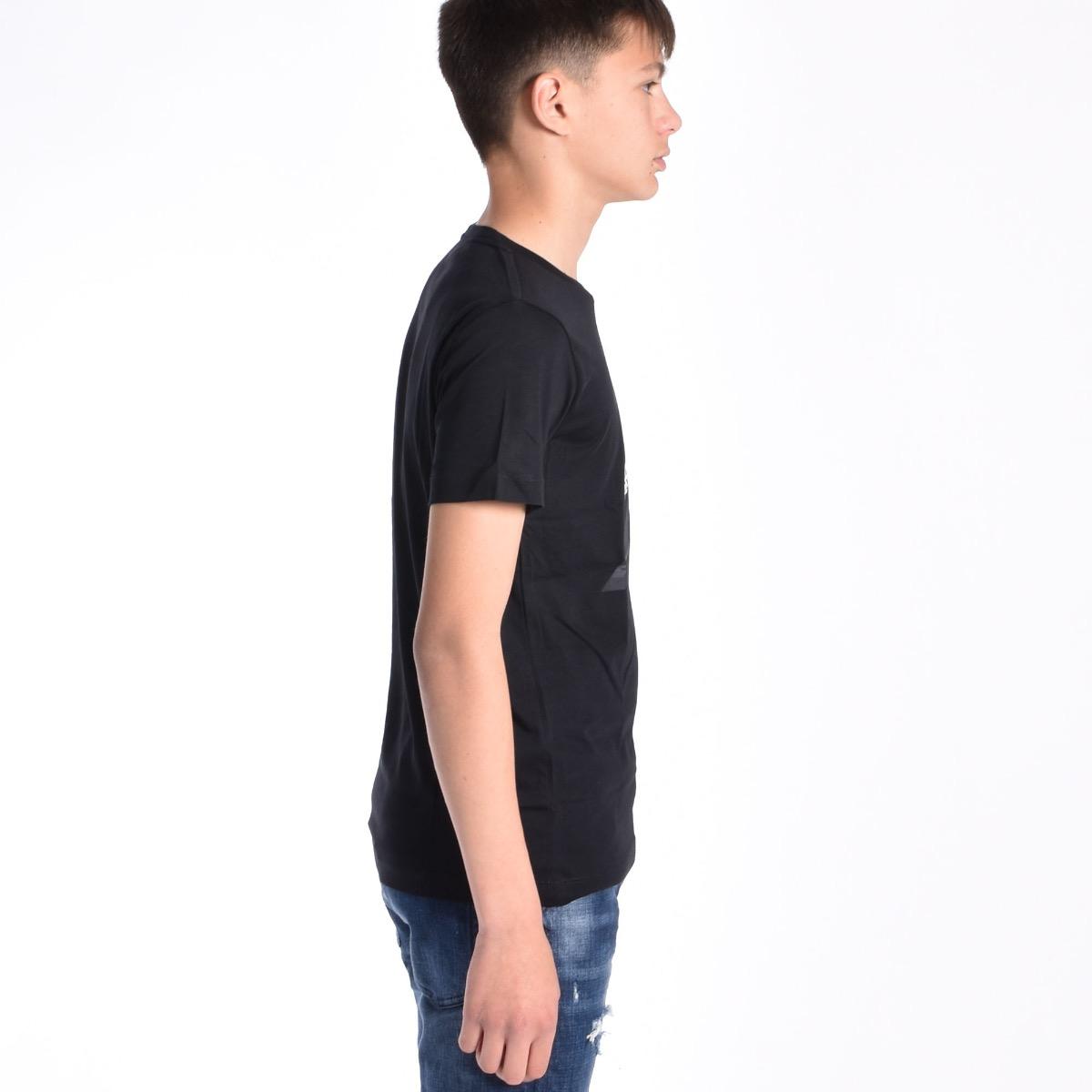 T-shirt fascia con logo - Blu
