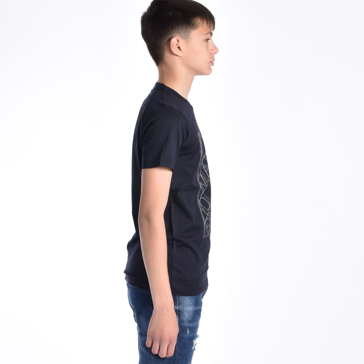 T-shirt con logo - Blu Navy