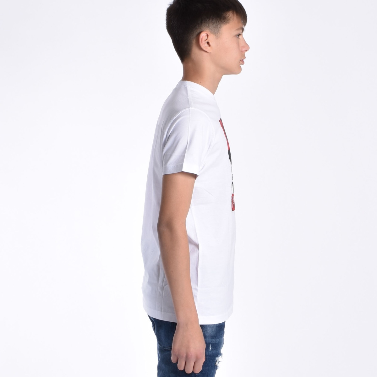 T-shirt con stampa Caten - Bianca