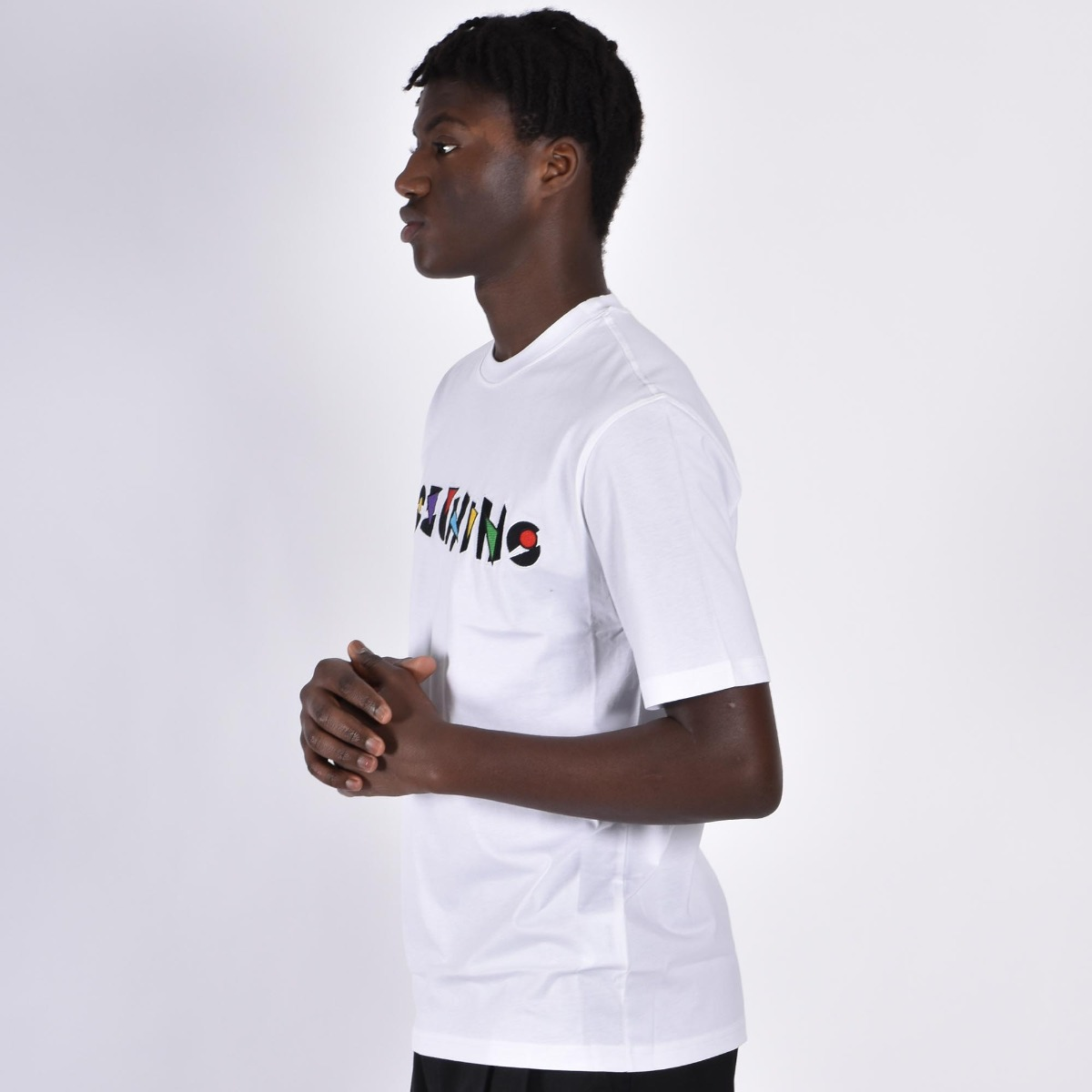 T-shirt logo ricamo - Bianco