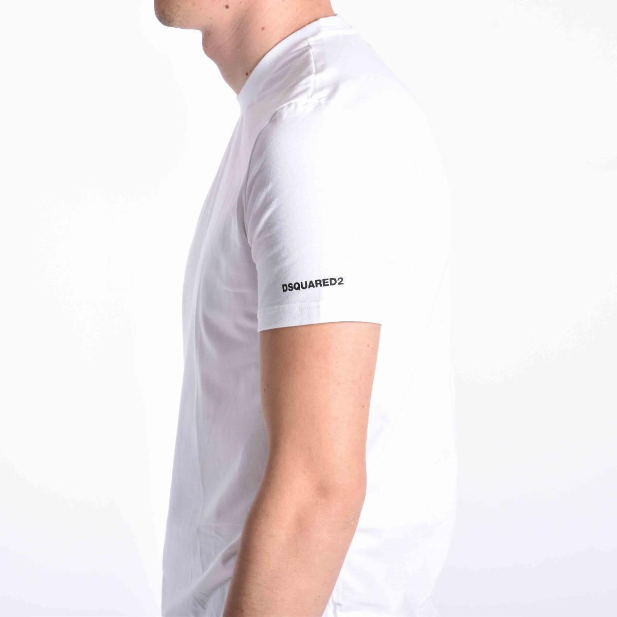 Girocollo logo manica - Bianco