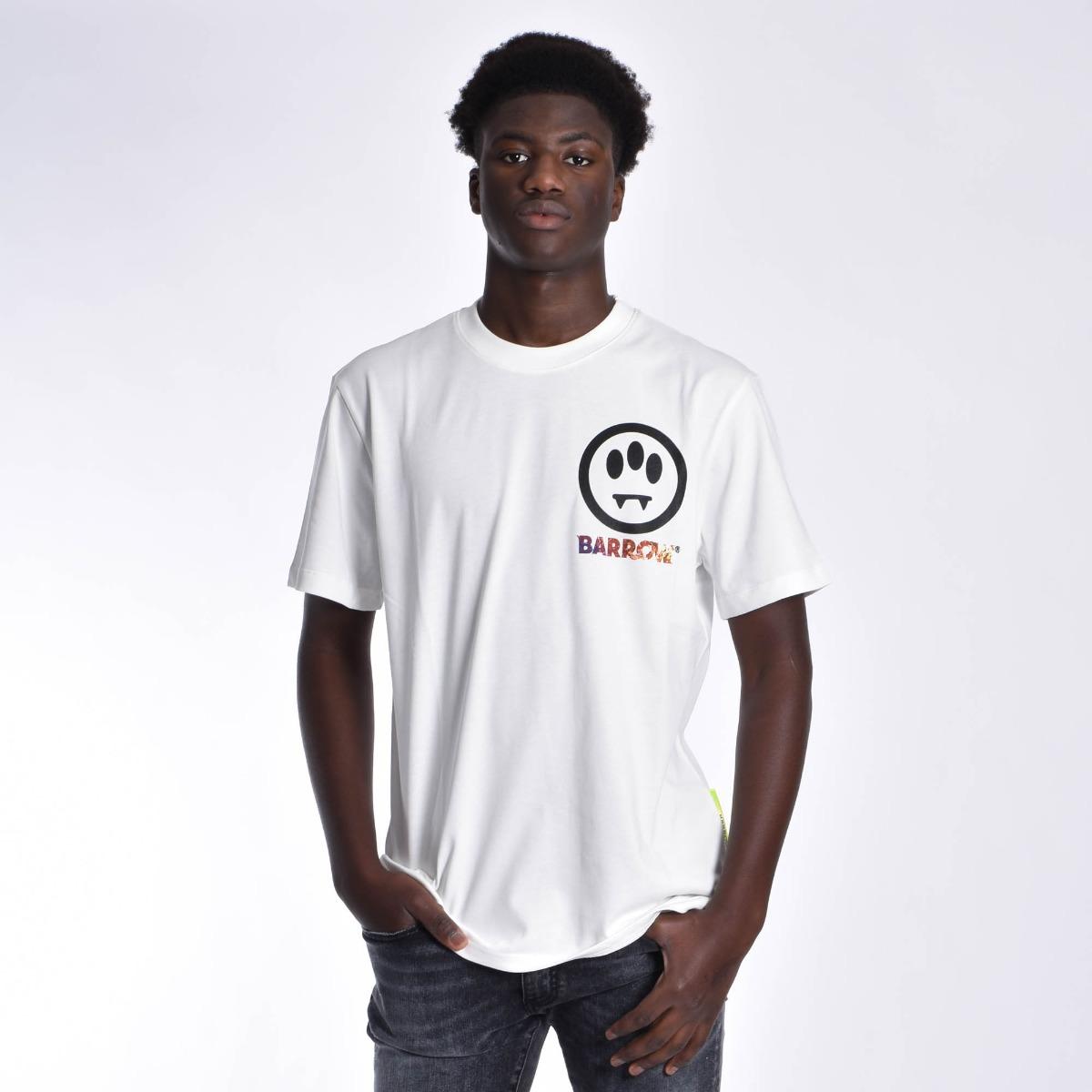 T-shirt logo univers - Bianco