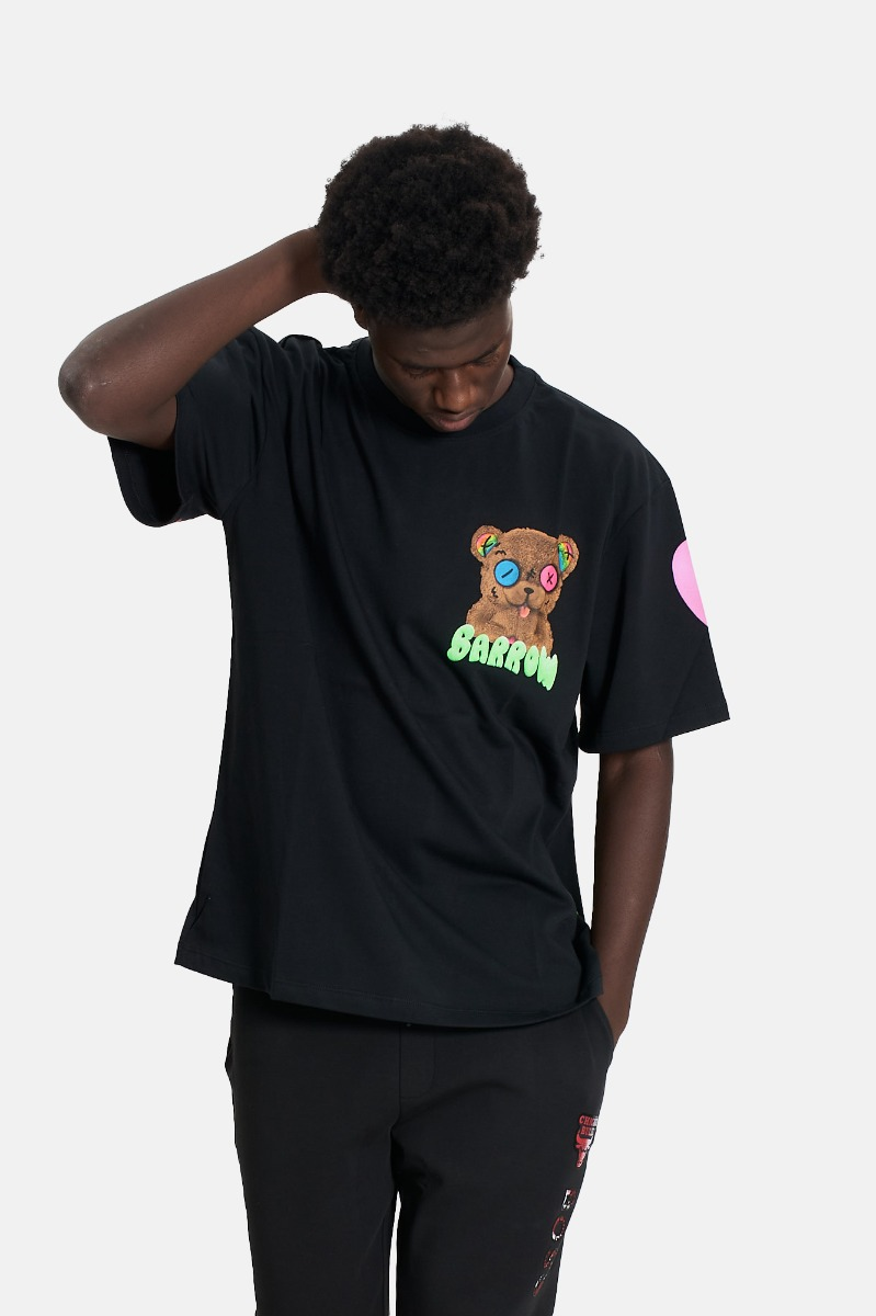 t-shirt unisex orsetto barrow - Nero